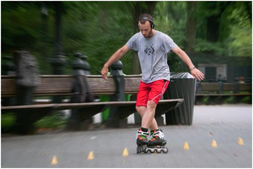Skater In Central Park