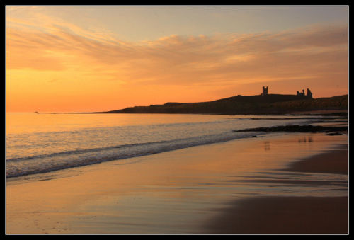 Dawn at Dunstanburgh Castle