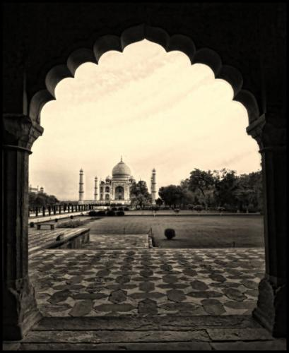The Taj through the arch