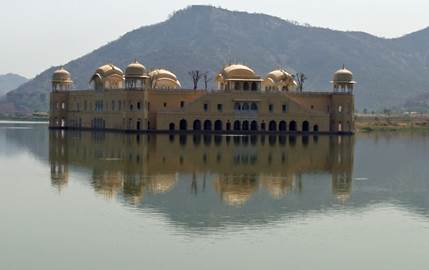 Maharajahs Palace in the lake, India