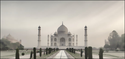 Sunrise at the Taj-Mahal